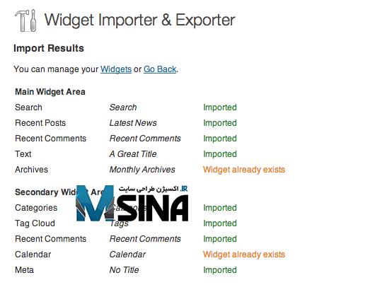 Widget Importer & Exporter 3
